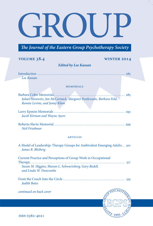 GROUP - The Journal for the EGPS